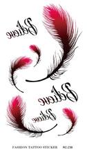 Rc2238 transferência de água etiqueta do tatuagem temporária penas de pavão falsa tatuagem mulheres Sexy braço ombro à prova d ' água etiqueta do tatuagem(China (Mainland))