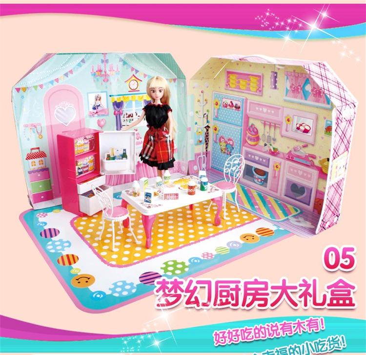 kid's toy girls fashion doll toy dream kitchen(China (Mainland))