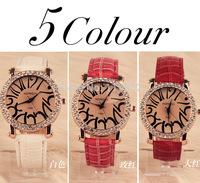 woman korean watches lady Quartz calibre leather band Analog wristwatches analog girl clock relogio  diamond-bordered design
