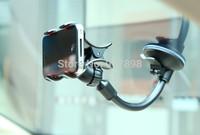 Long Arm Universal Car soft tube Mount Bracket Holder for iPhone Phone GPS MP4 PDA 360 Degree