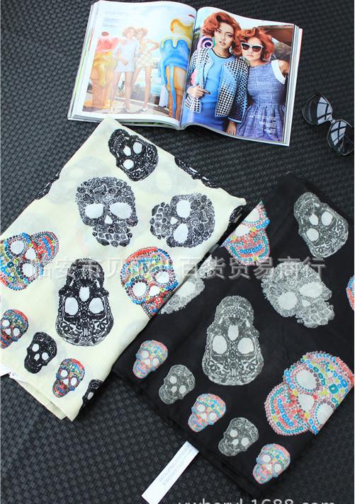 Z * R original single big European and American punk style skull Kito wild color oversized classic fashion(China (Mainland))