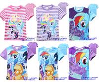 New Designer MLP My Little Pony Tee for Boys Kids Girls Tshirt Child Clothing Children Short Sleeve blouse shirts Cartoon