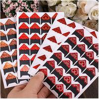 2 sheets/ lot (48 pieces) DIY Multifunction Vintage photo corner sticker/Cute note paper sticker/Decoration label