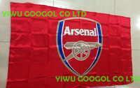 Free Shipping Arsenal Flag NEW  90x150cm Football Club Flag 100% Polyester 3x5ft Football Team Fan Flag