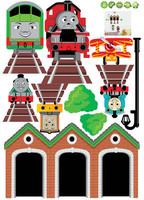 Thomas the Tank Friend Window Train Wall Sticker Decor Decals Removable Art Kids