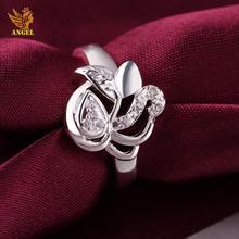 R414-8 Angel Brand silver Love rose gold ring Lovely tungsten ring
