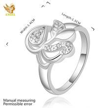 R414 8 Angel Brand silver Love rose gold ring Lovely tungsten ring