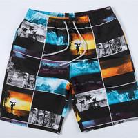 Men's Bermudas beach boardshorts photo print water proof 2015 new shorts masculino bermudas masculinas plus size mens swimwear