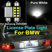 2x CANBUS Pure White 36mm C5W LED 2835SMD For BMW E82 E88 E30 E82 E21 E91 E28 E34 E12 E63 E72 E71 E89 E52 License Plate Light