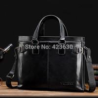 2015 Men handbag men's laptop bags Leather computer travel bags shoulder messenger bag