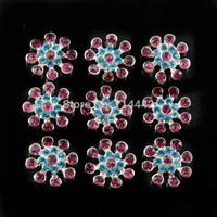 Free shipping 20pcs/ lot 21mm Pearl Flower Button Flatback Alloy Rhinestone for Headbands Accessories Wedding decoration