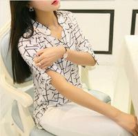 2015 New Fashion Sleeve shirt in black and white geometric Bertha joker classic snow spins unlined upper garment WTS46