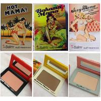 3pcs/lot Orignal The Balm Hot Mama Sexy Mama Bahama Bcosmetics Pressed Powder Marissa Blusher Brand Palette Makeup Set