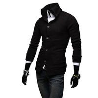 Men's Slim Fit Stylish High Collar Knit Sweater Knitwear Coats Jackets