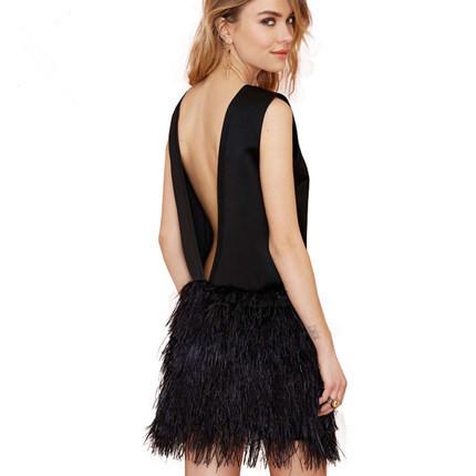 Женское платье Backless dress sexy 2015 Vestidos V /lj1707 mini dress summer женское платье dress new brand 2015 v vestidos print summer dress