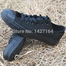 Полный черный низкий высокий стиль мода женская обувь классический холст мужчины обувь оригинал звезда кроссовки любителей обувь размер 35-45
