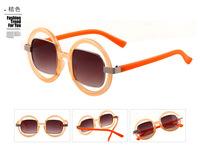 New 2015 Hollow Frame Round Sunglasses Vintage Fashion Summer Oculos Gafas Women Brand Designer Steampunk Oculos De Sol Feminino