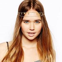 big aura ultra shiny tassels Europe foreign trade chain-tiara women and girl headband hair accessories H0061