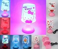 Cute Hello Kitty Mickey Mouse Doraemon Stitch Bear USB Battery LED Desk Night Lamp,Multicolor Lamplight Night Lights Desk Light