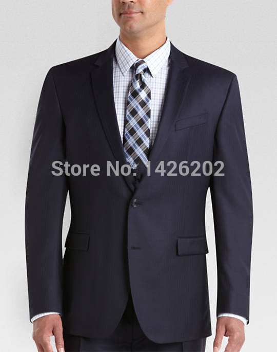 Formal Navy Blue Business Suit Jackets for Men MJ-0028 Regular Gentleman Groom suit Coat 2015 Two Buttons Tuxedo Jacket(China (Mainland))