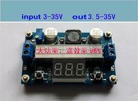 Free shipping  1x DC step up power Converter module Volt display 3~35V to 3.5~35V Adjustable