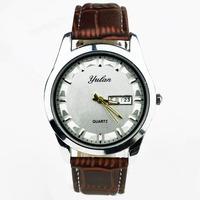 relogio masculino Luxury YULAN Brand Full pu leather Analog Display Date Men's Quartz Watch Casual Watch Valentine Wristwatch