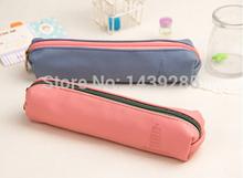 Карандаш чехол офис и школа поставки чистые цвета мех карандаш сумки сумка портмоне макияж мешок молния сумка портмоне