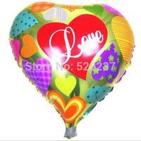 Free Shipping~ 10pcs/lot 18 inch Wholesale Aluminum film aluminum foil D003 peach heart balloon/ valentine's day party balloon