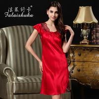 Factory Direct 100% silk female silk nightgown  summer new silk dress S242