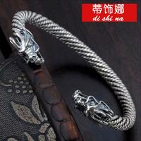 Send to a friend a birthday present boyfriend Taiyin 925 Sterling Silver Bracelet retro Bangle Bracelet
