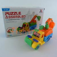 10 set /lot building blocks assembled 3D puzzle assembled toys construction truck excavator DIY toy car free shipping