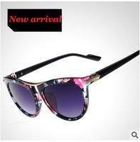Women's Sunglasses 2015 Hot Oculos de sol feminino Brand Designer Fashion Flower Glasses Outdoors Eyewear High quality 8clor 256
