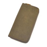 Men's Crazy Horse leather wallet designer men wallets famous brand style men purse Brown