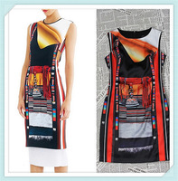 [REAL SHOT] Free shipping New Arrival Ancient Chapter Dress Elegant Cap Sleeve Casual Dresses
