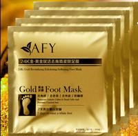 1000Pair/lot 24K Gold Revitalizing Exfoliating Softening Feet mask