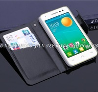 100pcs/lot wallet pu book style leather Case for Alcatel one touch POP S3 5050x 5050y case with card slots holders