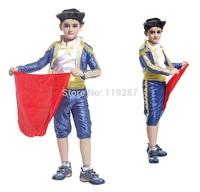 Children's Party Supplies Spanish Matador masquerade cosplay costume Halloween Costume For Kids boys dance clothing Costume