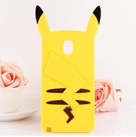 2015 New arrival 3D cute cartoon a pikachu model Cover case for Samsung Galaxy Note3 N9000 YC106