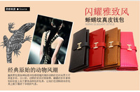 Guaranteed 100% Genuine Leather Wallet Women Handbags Wallets Clutch Bags Hot Sale Brander Design crocodile wallet for cheap