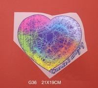 Free shipping /21*19cm/Cartoon purple love Iron On Transfers Film Cartoon Patch /wholesale