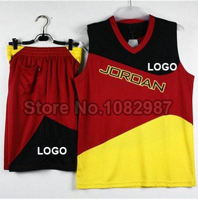 Michael Jordan Men Basketball Kit Set of Jersey & Shorts With Logo DIY Team Training Outfit Basketball Shirt & Pant Uniform(China (Mainland))