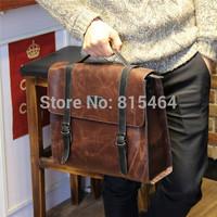 Crazy Horse leather vintage men's messenger bags fashion designer brand postman bag hot sale high quality shoulder bags for man