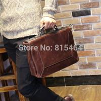 Crazy Horse leather man bags vintage designer brand men messenger bags motorcycle postman bag casual shoulder bags for men