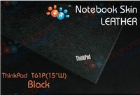 """KH Special Laptop black Leather skin cover for IBM Thinkpad T60P T61P 15.4"""""""