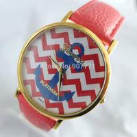 10pcs/Lot Ladies Geneva Anchor Style Women Men Dress Casual Analog Quartz Wrist Watches PU Leather Hot Sell 2014