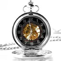 2015 Top Fashion Hot Sale Glass Yinglun Roman Dual Display Mechanical Pocket Watch And Ladies Fashion Vintage Gift Free Shipping