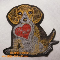 "20011 Be Mine Dog Iron-On Patches ""Easy To Apply, Just Iron-On"" Guaranteed 100% Quality Custom Embroidery + Free Shipping"