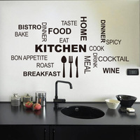 Kitchen Wall Decal  For the Food Friends Love- Quote Cooking Blessing VInyl Home Decor 8335