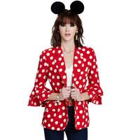 2015 brand spring single breasted polka dot print lovely Princess three quarter sleeve women blazers fashion leisure suits J1082