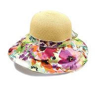 linen hat for summer Rushed New Explosion Models Fashion floral hat floral cap retro woman Caps sun hat beach hat, free Shipping
